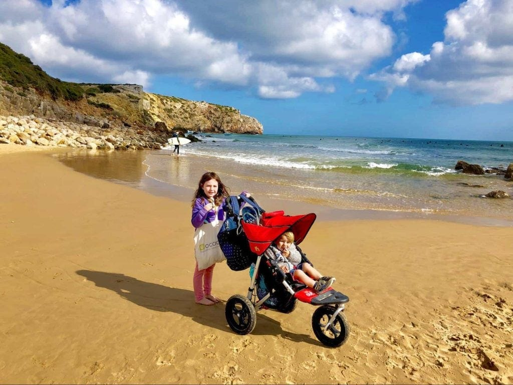 Out'n'About Nipper on the beach
