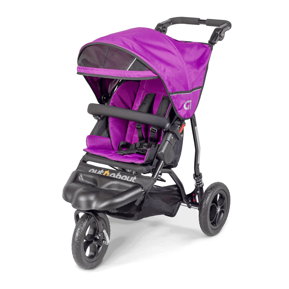 Out'n'About GT Buggy in Purple Punch - with sunhood visor