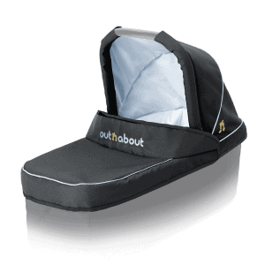 Out'n'About Nipper Double Carrycot Fabric Set Black