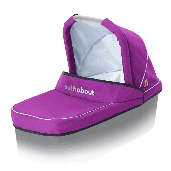 Out'n'About Nipper Carrycot Fabric Set Purple